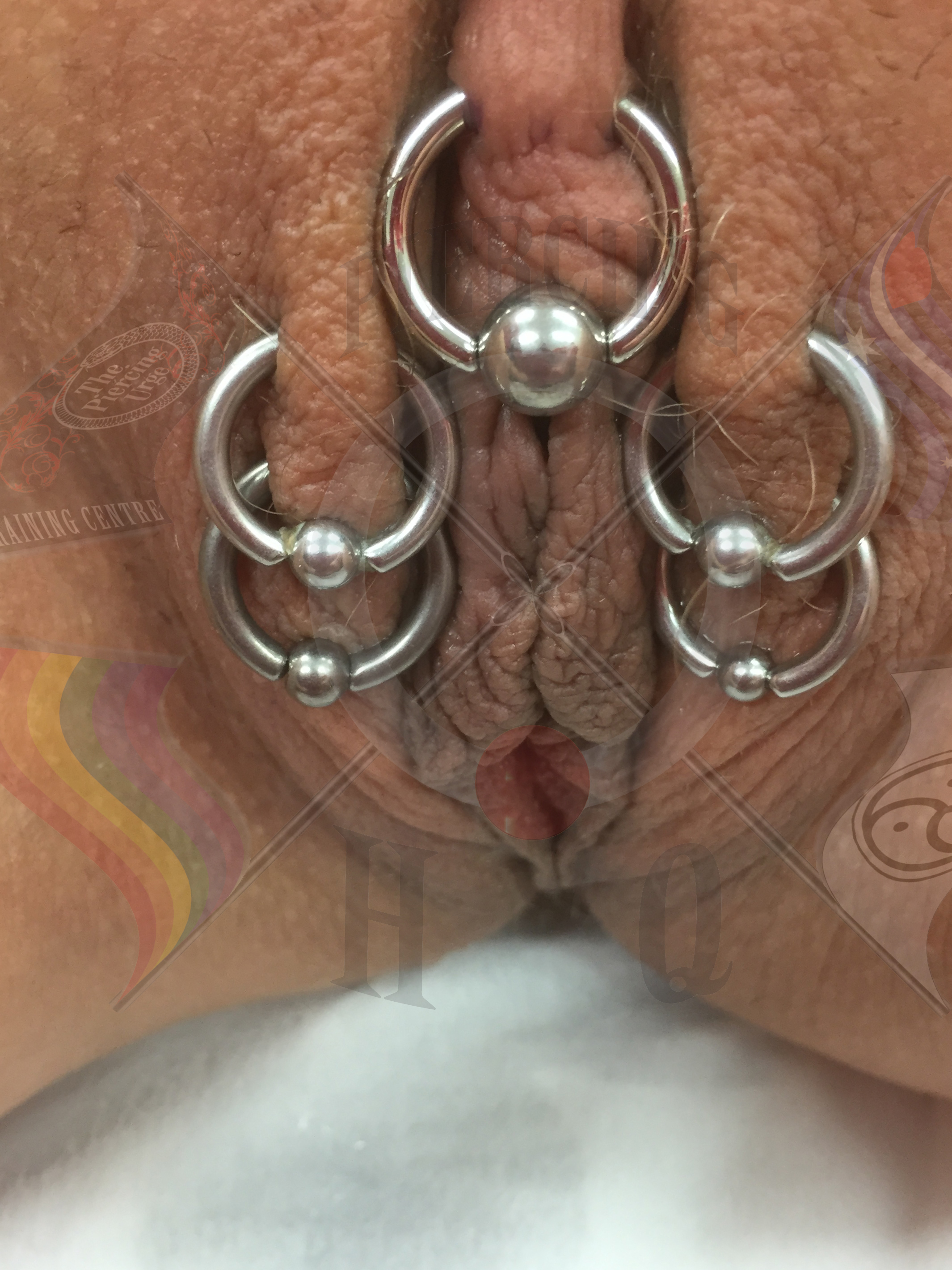 Pierced clit and labia thumbnails